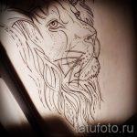 croquis d'un tatouage de lion sur sa main - dessins pour les tatouages de 29042916 1
