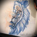 croquis d'un tatouage de lion sur son dos - images pour les tatouages de 29042916 1