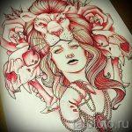 croquis d'un tatouage de tête de lion - images pour les tatouages de 29042916 1