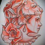 croquis d'un tatouage de tête de lion - images pour les tatouages de 29042916 3