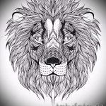 croquis d'un tatouage de tête de lion - images pour les tatouages de 29042916 4