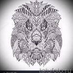 croquis d'un tatouage de tête de lion - images pour les tatouages de 29042916 5