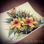 fleurs de tatouage aquarelle croquis - dessins de 26-04-2016 1
