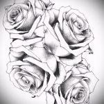fleurs de tatouage croquis sur le côté - des photos de 26-04-2016 1