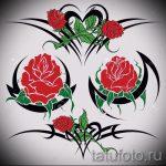 fleurs de tatouage de croquis colorés - des dessins de 26-04-2016 1