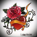 fleurs de tatouage de croquis colorés - des dessins de 26-04-2016 2
