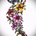 flower tattoo designs for girls - Pictures from 26.04.2016 10