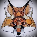 fox tattoo colored sketches - see pictures 25.04-2016 2