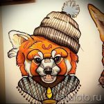 fox tattoo colored sketches - see pictures 25.04-2016 3