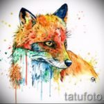 fox tattoo designs on the leg - see pictures 25.04-2016 3