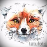 fox tattoo designs on the leg - see pictures 25.04-2016 8