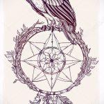 hibou et Dreamcatcher tatouage croquis 1