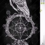 hibou et Dreamcatcher tatouage croquis 3