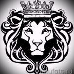 lion de tatouage croquis avec couronne - images pour les tatouages de 29042916 1
