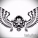 lion de tatouage croquis avec des ailes - tatouage images de 29042916 1