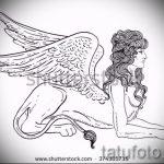 lion de tatouage croquis avec des ailes - tatouage images de 29042916 2