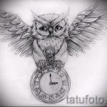 owl tatouage esquisse américaine 1
