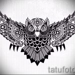 owl tattoo on his neck sketch 1