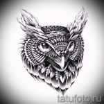 owl tattoo on his neck sketch 2