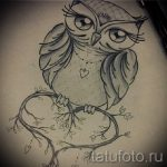 owl tattoo sketch for girls 1