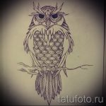 owl tattoo sketch for girls 2