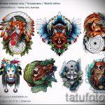 renard tatouage croquis colorés - voir les photos 25.04-2016 4