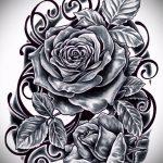 schwarze Rose Tattoo Skizze - cool aussehen Tapete 1