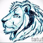 sketch of a tattoo of a lion's head - images for tattoos from 29042916 1