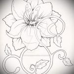 sketch of a tattoo on the wrist flowers - Pictures on 26.04.2016 2