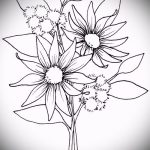sketch of a tattoo on the wrist flowers - Pictures on 26.04.2016 5