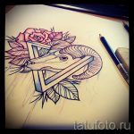 sketch of tattoo rose flowers with a triangle - to look cool wallpaper 2