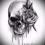 sketch of tattoo rose on hand - to look cool wallpaper 1
