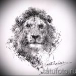 sketches of a lion tattoo on his back 5