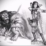 sketches of a lion tattoo on his back - images for tattoos from 29042916 1