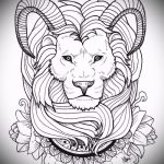 sketches of a lion tattoo on his hand - drawings for tattoos from 29042916 1