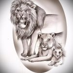 sketches tattoo Lion and Lioness 1