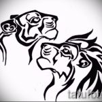 sketches tattoo Lion and Lioness 2