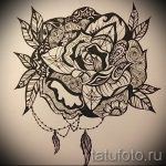 sketches tattoo flowers black and white - drawings from 26.04.2016 1