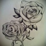 sketches tattoo flowers black and white - drawings from 26.04.2016 2