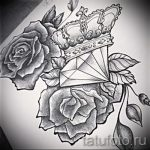 sketches tattoo flowers black and white - drawings from 26.04.2016 3