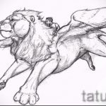 sketches tattoo lion with wings - tattoo pictures from 29042916 2