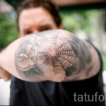 spider web tattoo on the elbow 1