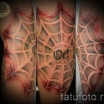 spiderweb tattoo on his knee 3