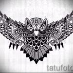 tatouage hibou conçoit sur l'avant-bras 1
