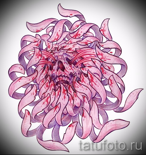tattoo flowers colored sketches - drawings by 26.04.2016 2