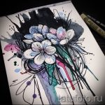 tattoo flowers watercolor sketches - drawings by 26.04.2016 2
