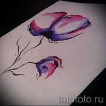 tattoo flowers watercolor sketches - drawings by 26.04.2016 4