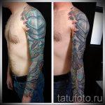 Ärmel Rüstung Tattoo - ein Beispiel für die fertigen Tätowierung 16052016 2