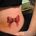 бантики на бедрах тату - фото пример готовой татуировки 02052016 2