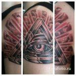 всевидящий глаз в треугольнике тату - фото готовой татуировки от 13052016 3